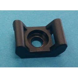 CRADLE FOR CABLE TIES BLACK